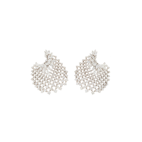 """CHEVALIER COLLECTION"" MESH 18K GOLD EARRINGS"