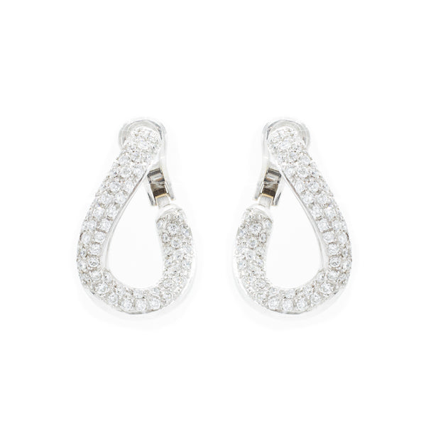 """18K White Gold & Diamond"" Earrings"