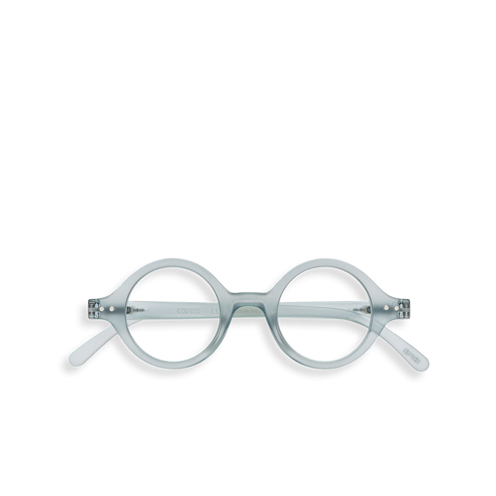 """J"" Frosted Blue Reading Glasses"