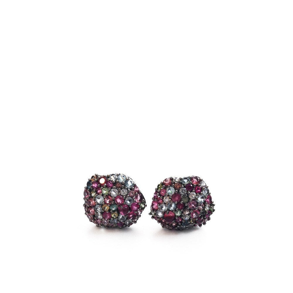 """Multicolour Gems"" 18K Gold Earrings"