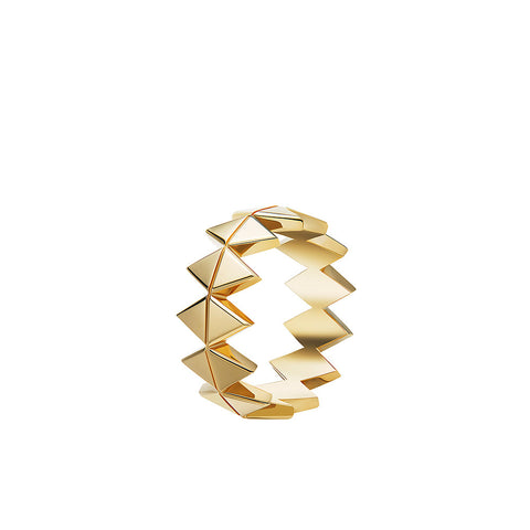 """Chloe Odette Band"" 18k Gold Ring"