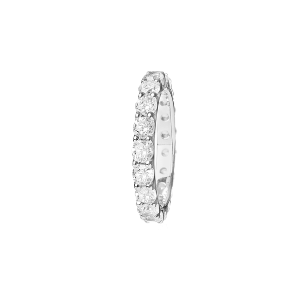 """LINK"" WHITE GOLD & DIAMOND RING"