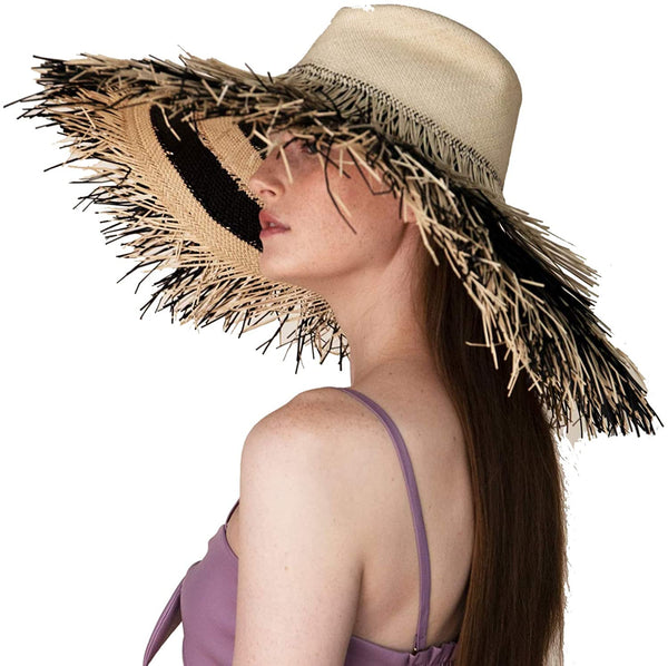 """PORCUPINE"" NATURAL / BLACK HAT"