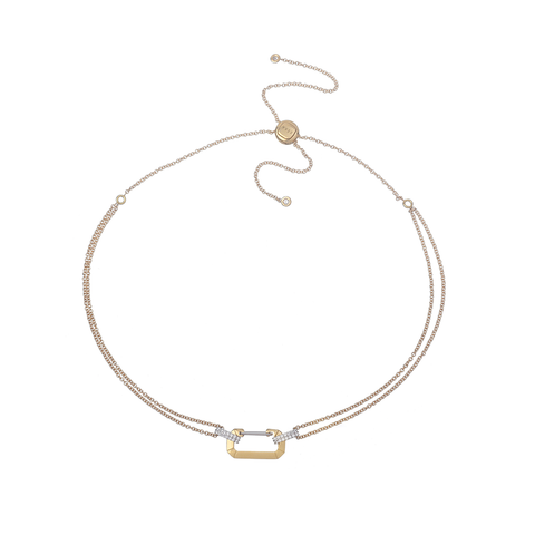 """LUCY"" YELLOW & WHITE GOLD DIAMOND PAVÉ CHOKER"