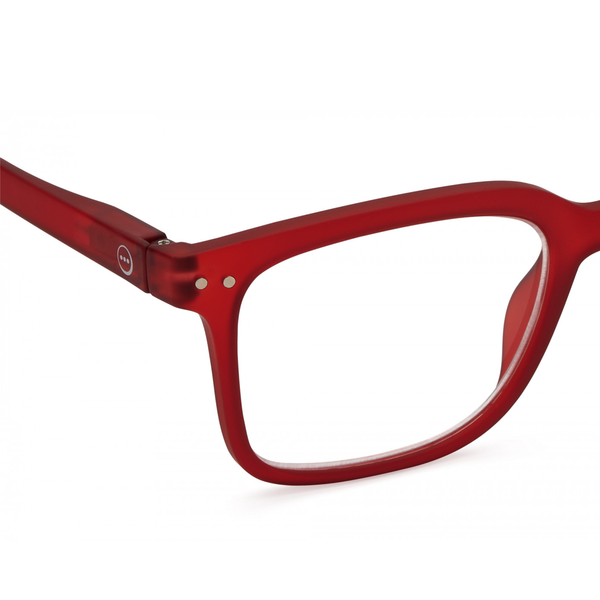 """L"" Red Crystal Reading Glasses"
