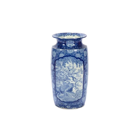 """Large Japanese Imari Blue & White Porcelain"" Vase"