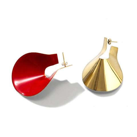 """Big Anish Earrings"" Red"