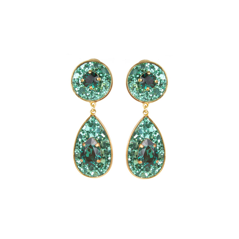 """Dazzle Green"" Earrings"
