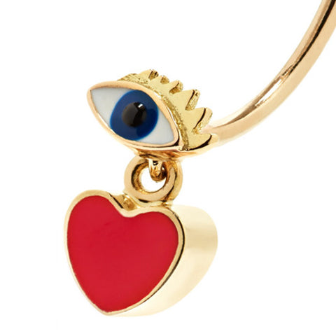 """MICRO-EYE & HEART PIERCING"" MONO EARRING"