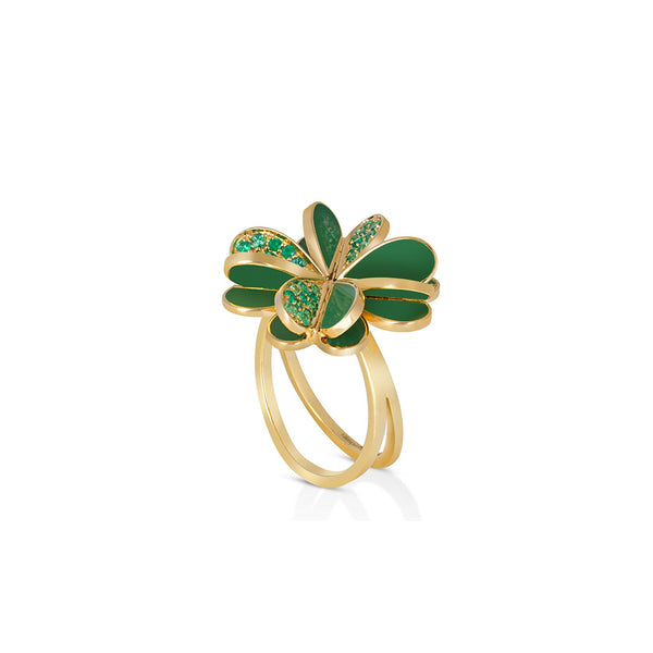 """LUCKY YOU"" EMERALD RING"