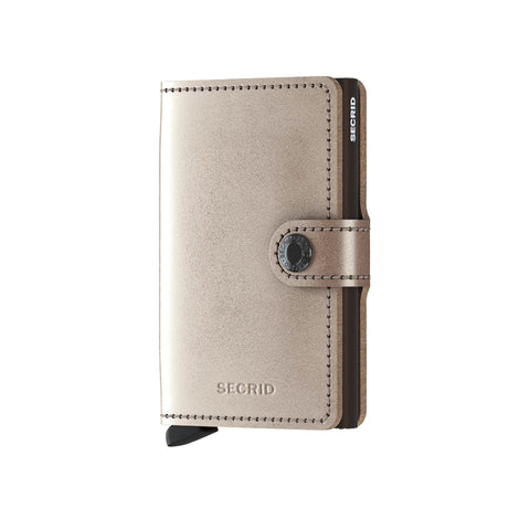 """METALLIC MARTIN"" CHAMPAGNE BROWN MINI-WALLET"
