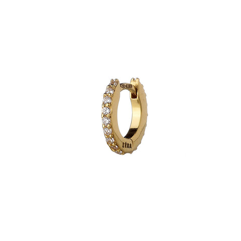 """MINI EÉRA"" 18K YELLOW GOLD PAVE EARRING"