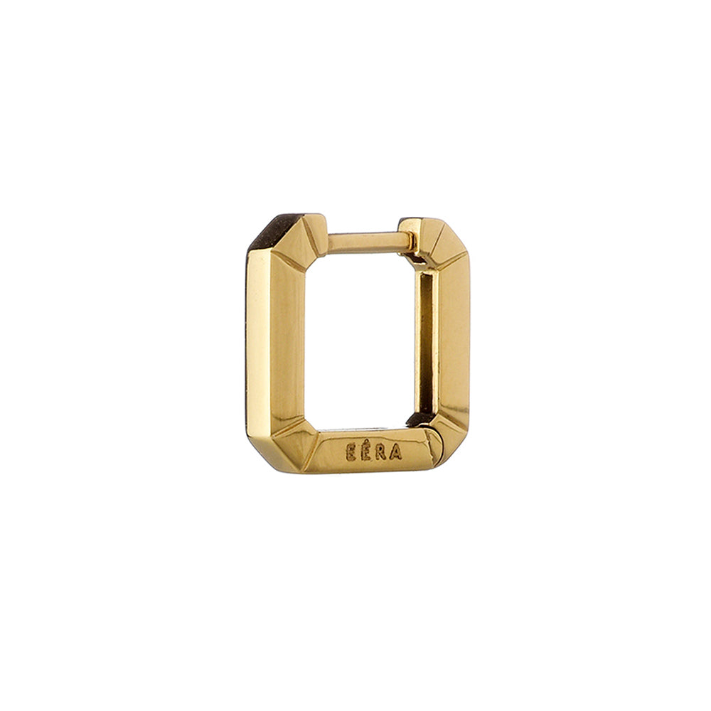 """MINI EÉRA"" 18K YELLOW GOLD HUGGIE HOOP EARRING"