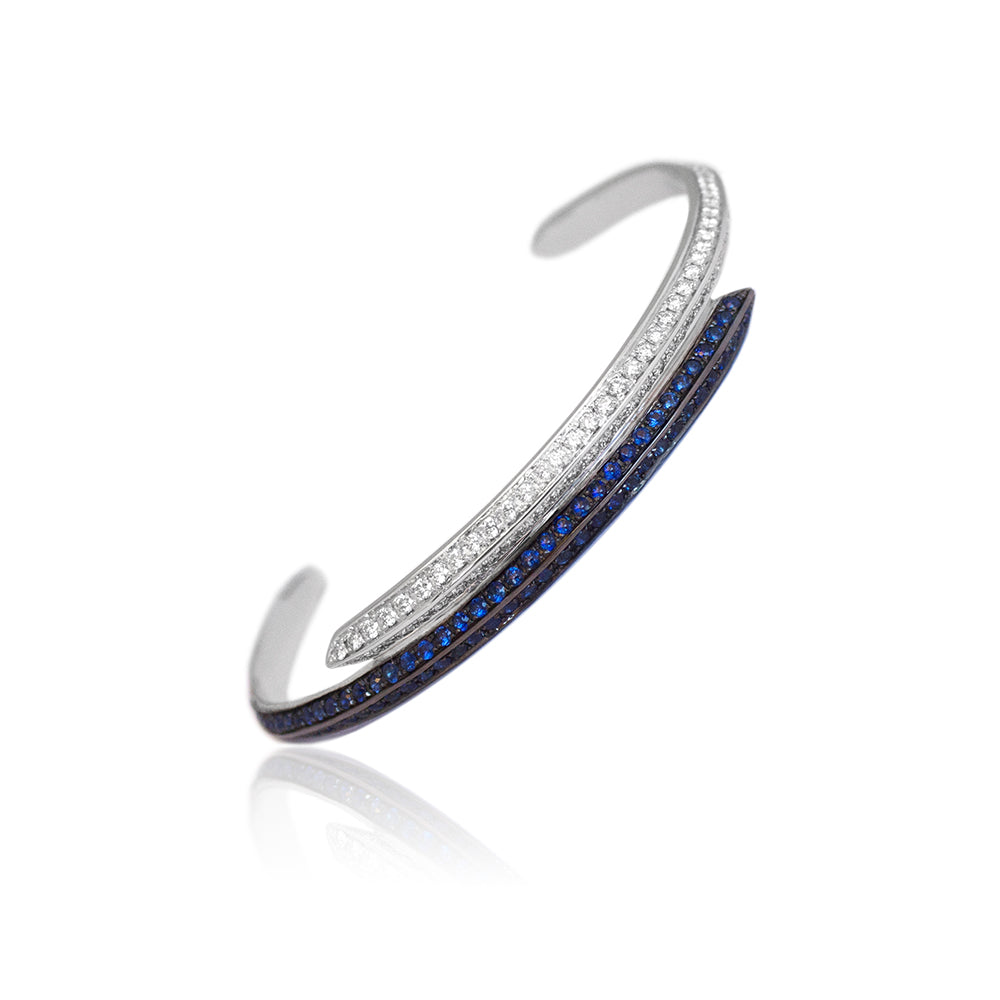 """MODERNIST"" DIAMONDS & SAPPHIRES BRACELET"