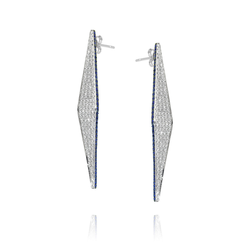 """Modernist Diamond Geometric Shaped"" Earrings"