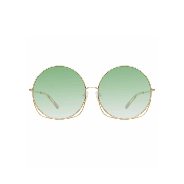 "Matthew Williamson ""248 C2"" Oversized Green Sunglasses"