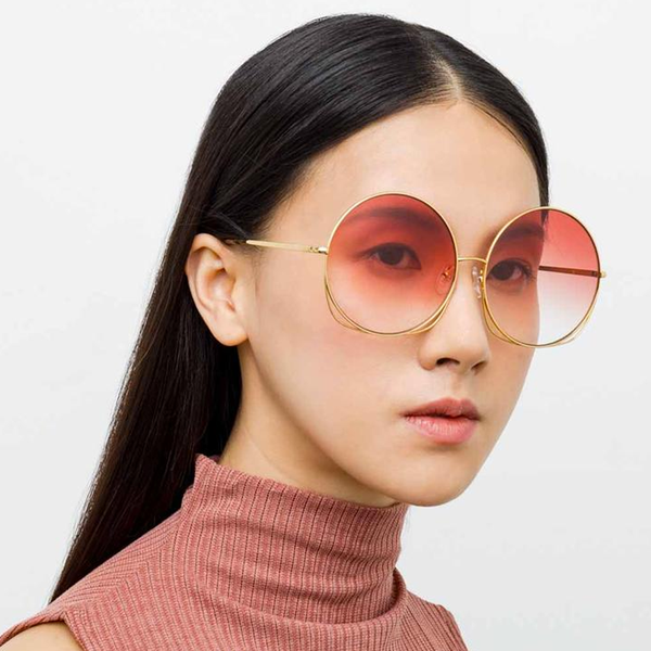"Matthew Williamson ""248 C4"" Oversized Coral Sunglasses"