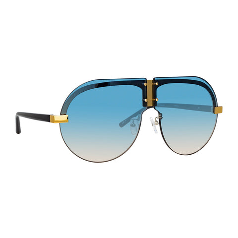 "Matthew Williamson ""252 C3"" Tulip Aviator Sunglasses"
