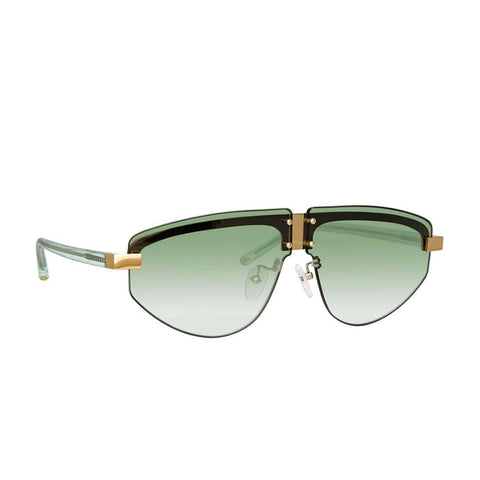 "Matthew Williamson ""253 C2"" Hyacinth Aviator Sunglasses"