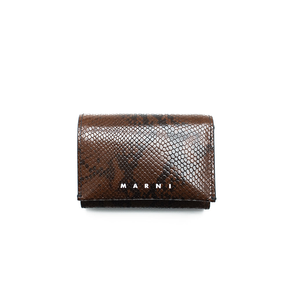 """BROWN SNAKE PRINT"" WALLET"