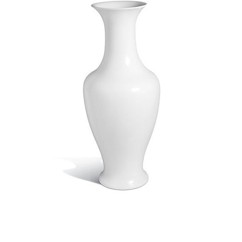 """Pure White"" Curved Top Vase"