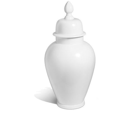"""Pure White"" Large Vase With Lid"