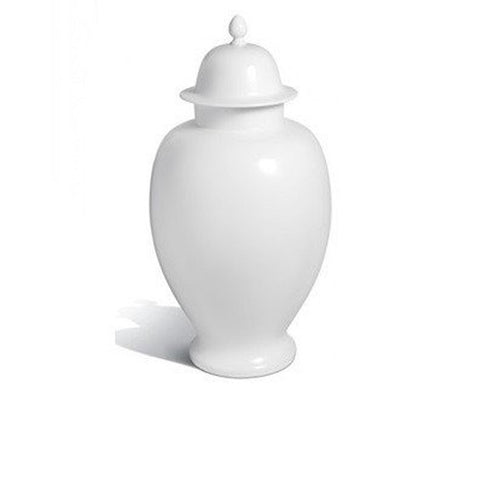 """Pure White"" Vase With Lid"