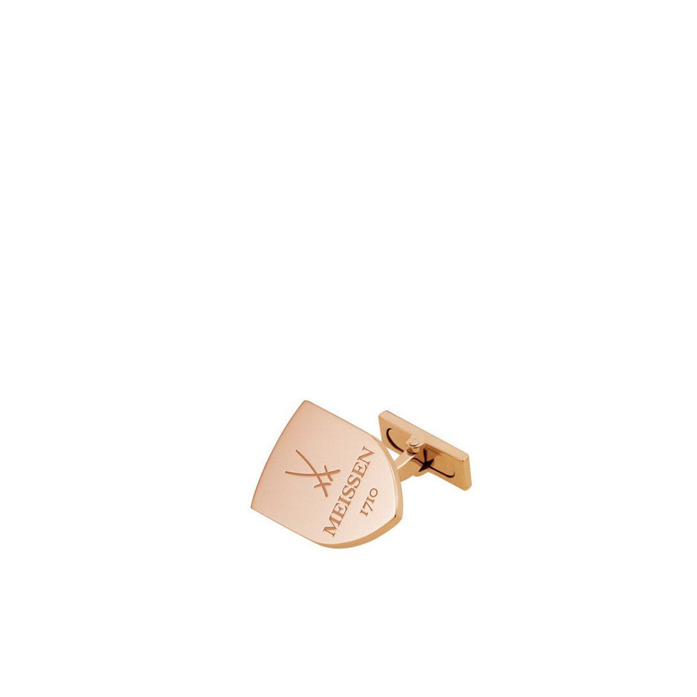 """Shield"" 18k Rose Gold Cuff Links"