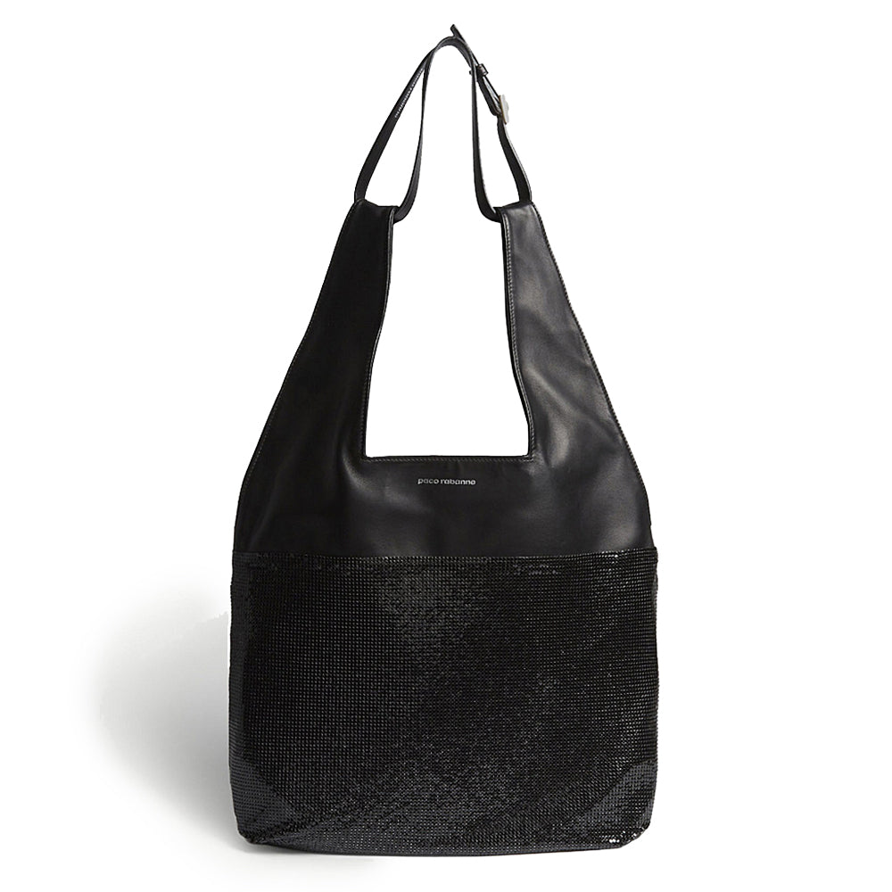 """Mesh Hobo Bag"" Black/Black"