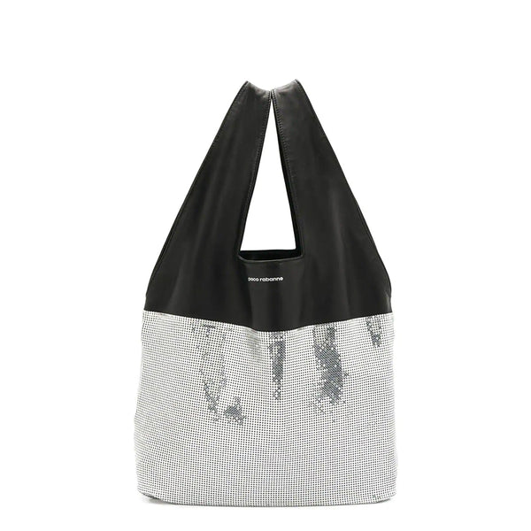 """Mesh Hobo Bag"" Silver/Black"