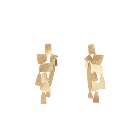 """MIKA"" GOLD-PLATED BRASS EARRINGS"