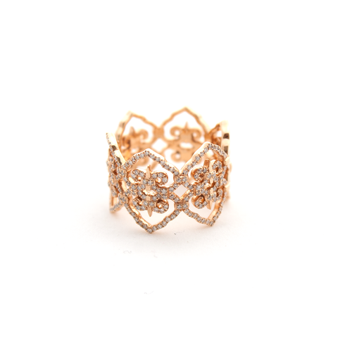 """Motif Infinity Ring"" 18k Rose Gold Ring"