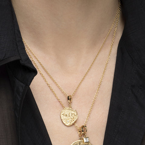"""ARETE SMALL DIAMOND COIN"" NECKLACE"