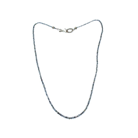 Grey Diamond beads Necklace By Jaleh FarhadPour