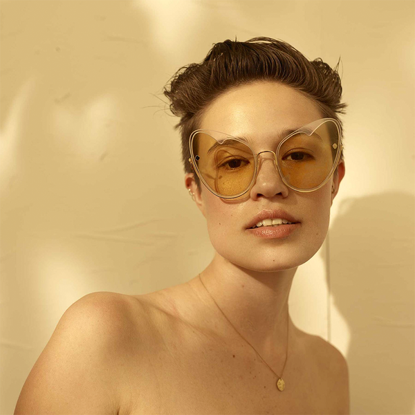 """Naked Heart"" Yellow Wallpaper Sunglasses"