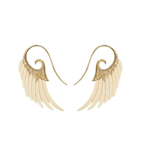 """Fly me to the Moon"" 18k Gold Earrings"