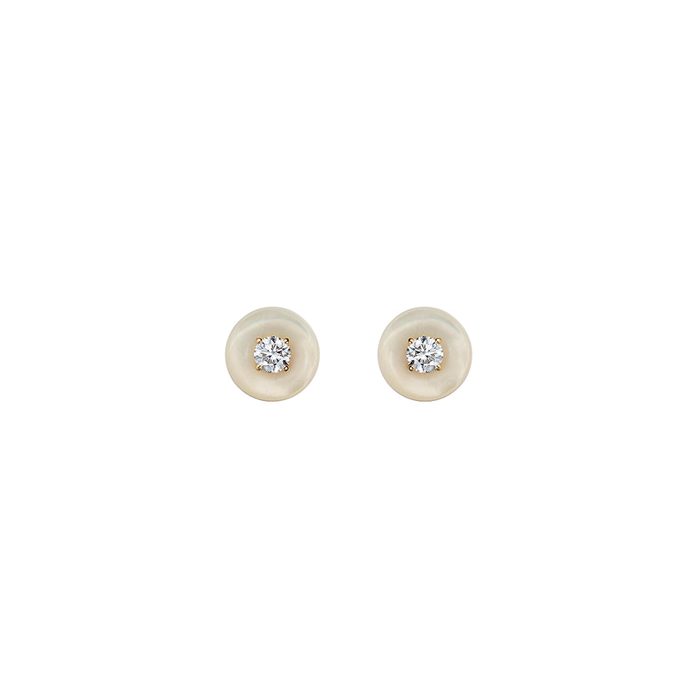 """Orbit Medium Studs"" Mother of Pearl"