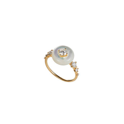 """Orbit Ring"" Mother of Pearl"
