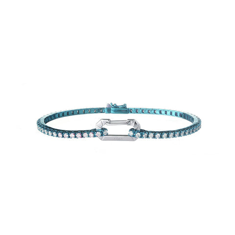 """PARIS"" 18K WHITE GOLD LIGHT BLUE BRACELET"