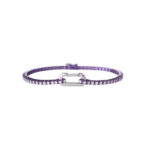 """PARIS"" 18K WHITE GOLD PURPLE BRACELET"