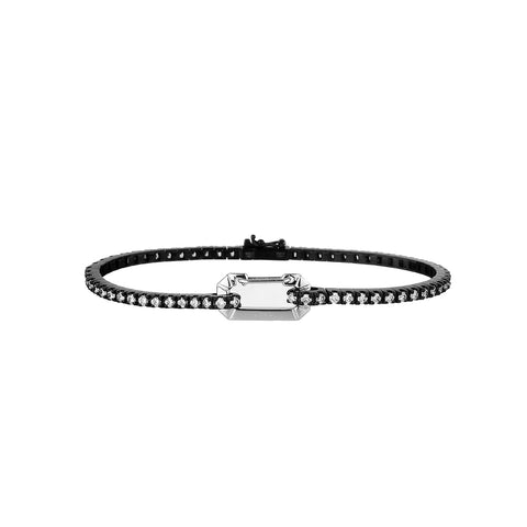 """PARIS"" 18K WHITE GOLD & BLACK BRACELET"