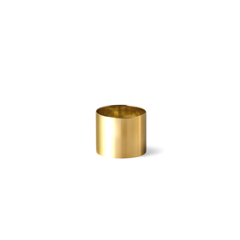 """Plate 15mm"" 18K Yellow Gold Ring"