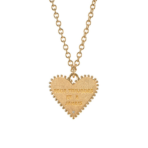 """Pour Toujours Heart Coin"" Necklace"