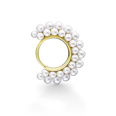 """PYRAMID PEARLS"" Ring"