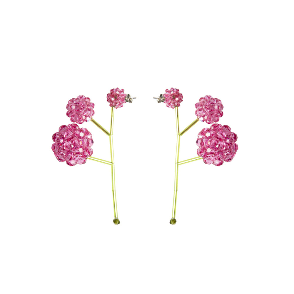 """PAEONIA SUFFRUTICOSA"" PINK EARRINGS"