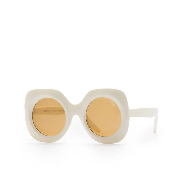 """PAULA"" WHITE RAW SUNGLASSES"
