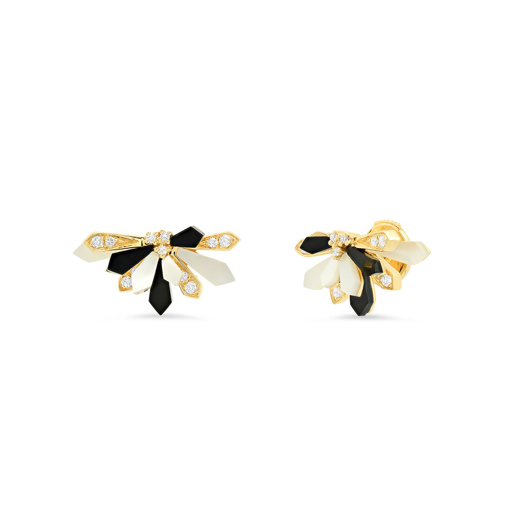 """Mini Penacho 18K Yellow Gold"" Studs"