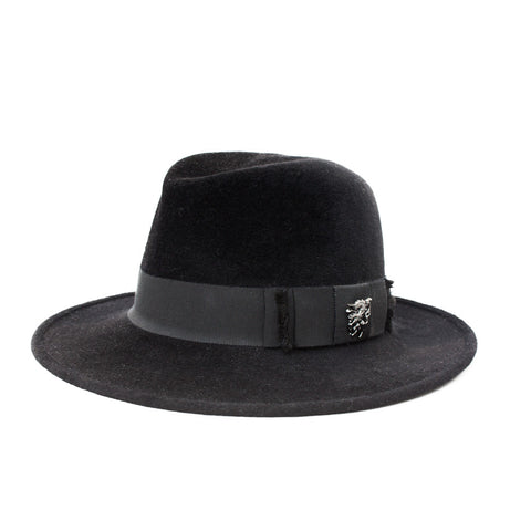 """Black Raiders"" Trilby Hat"
