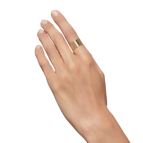 """Plate 10mm"" 18K Yellow Gold Ring"