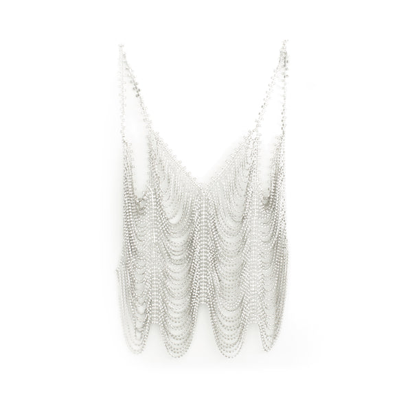 """Crystal Cupchain Cami"" Clear Crystal Silver"